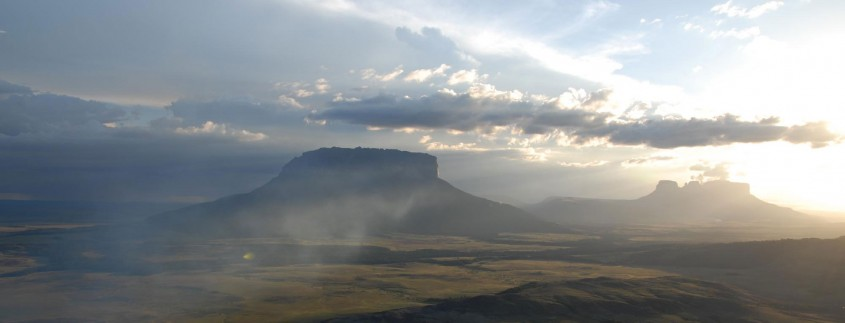 Upuigma Tepui, as seen by paramotor - first climbed by my friend Steve Backshall (with John Arran & Ivan Calderon) in 2007