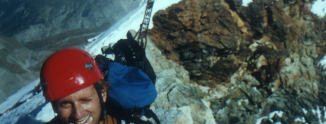 Tom Clowes on the summit of the Matterhorn