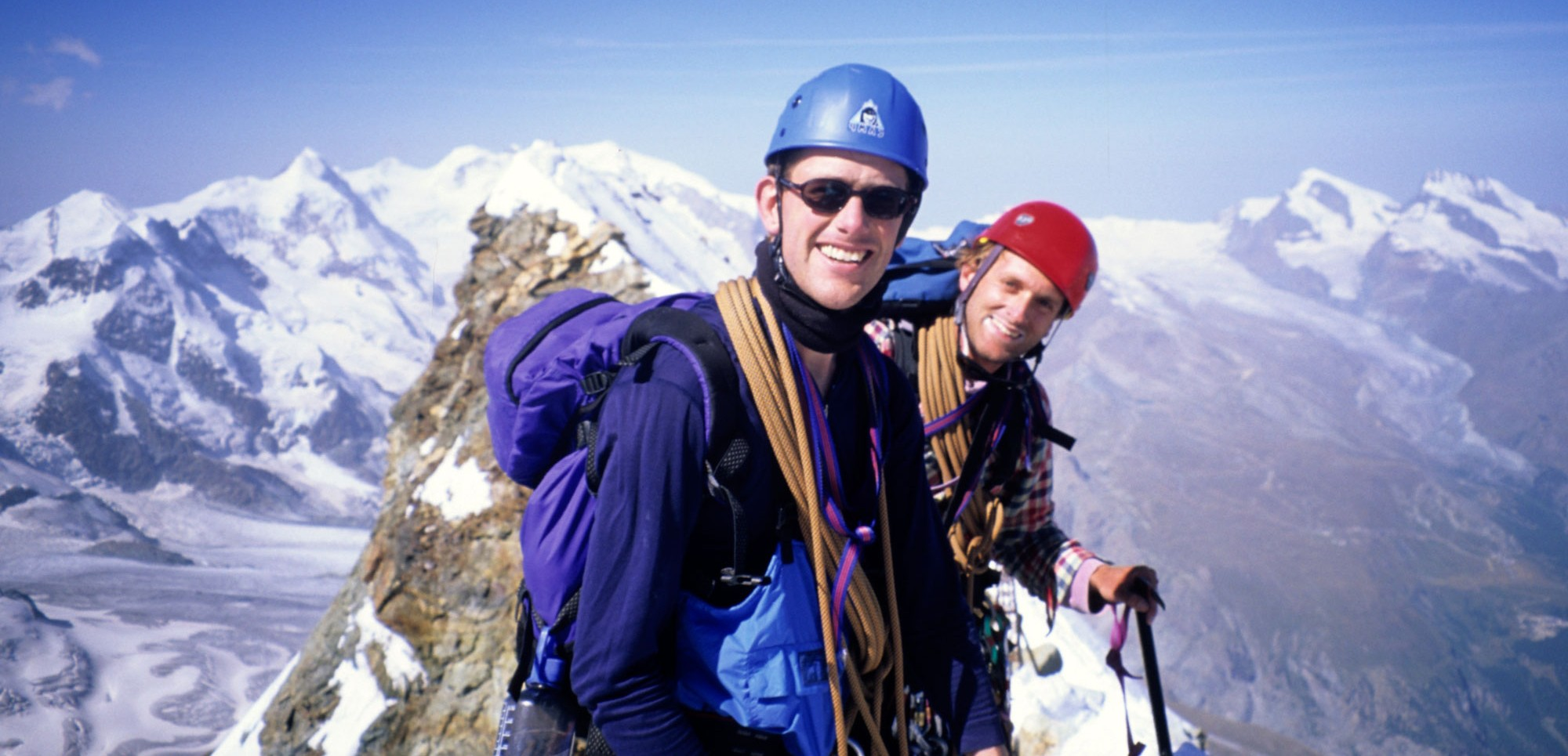 Geoffrey Stanford and Tom Clowes on the summit of the Matterhorn