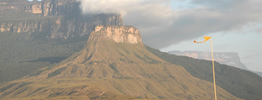 A Tepui as seen from the Indian village of Yunek in the Chimanta Massif