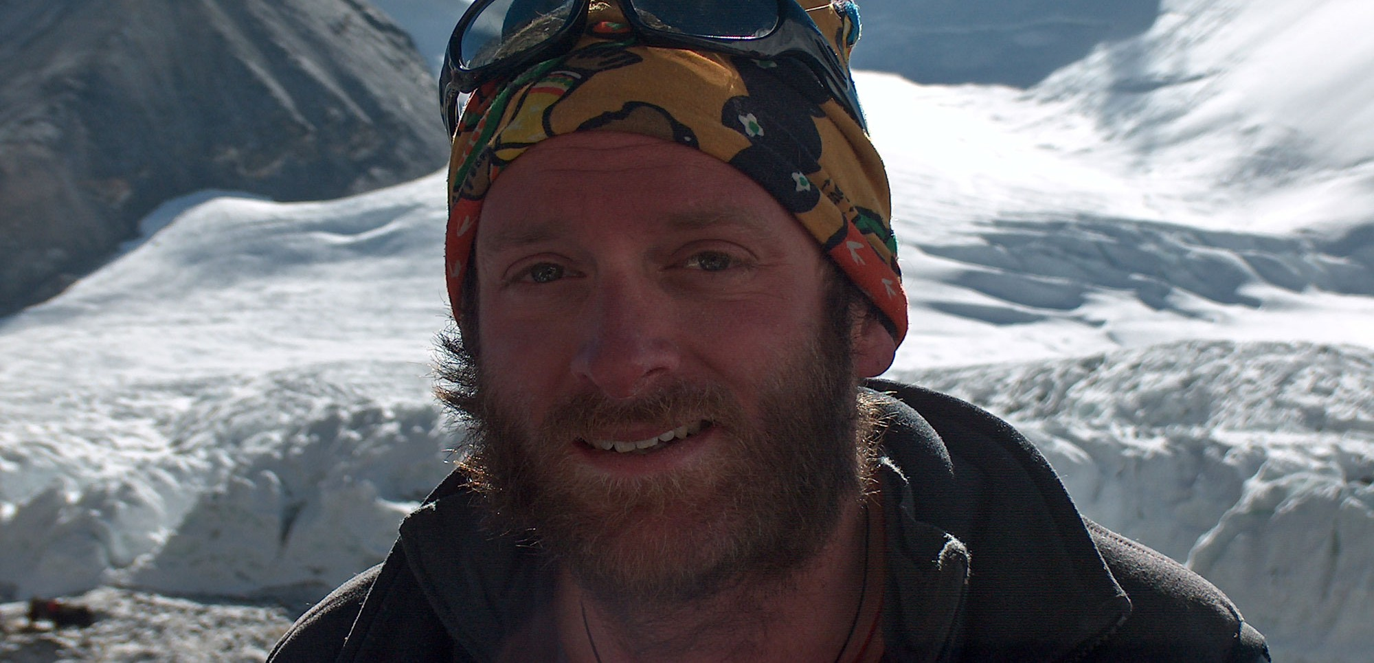 A very tired Tom after his Everest attempt in 2004